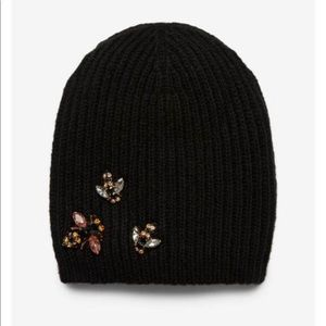 Express embellished Bee 🐝 knit beanie